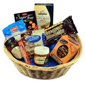 Diabetic gift basket - filled with treats for a diabetic