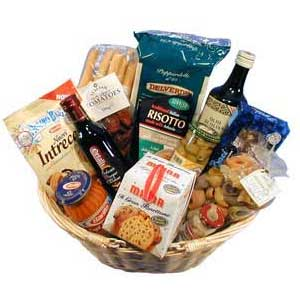 Italian Gift Basket packed full of produce from Italy