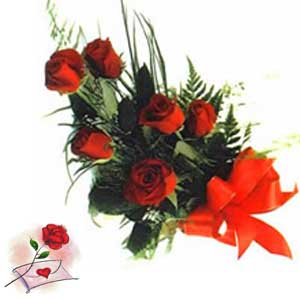 Red roses to send with love